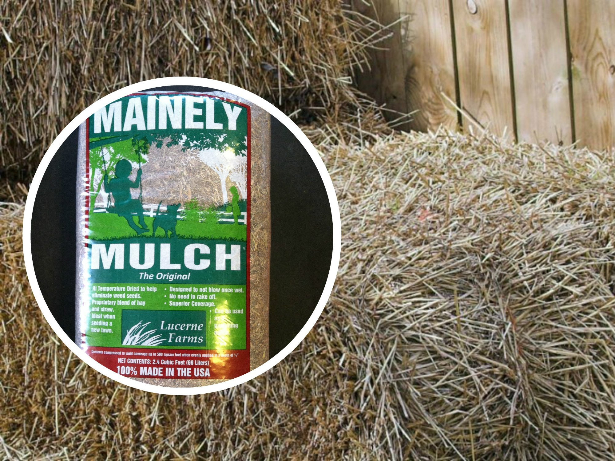 Mainely Mulch Chopped Hay & Straw Blend